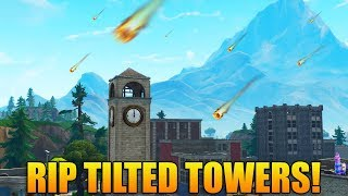 TILTED TOWERS IS BEING DESTROYED! - New Update Tomorrow - Fortnite Battle Royale Gameplay