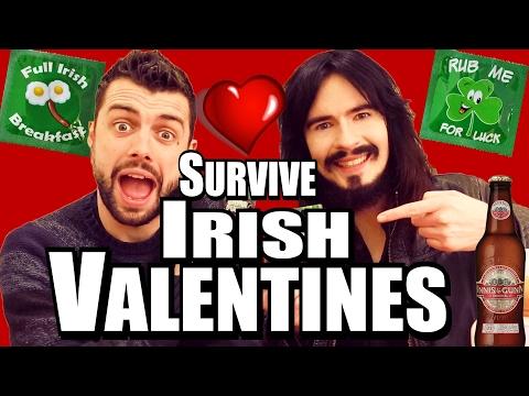 Irish People Try American Valentines Day! - BEER SURVIVAL KIT - 2017