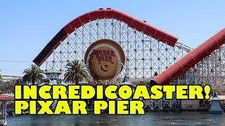 TPR Rides Incredicoaster at Disneyland California Adventure! NEW 2018 Front Seat Rider Cam POV