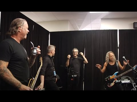 "METALLICA post video from tuning room/rehearsal room prior to their ""S&M²"" show in San Fran"