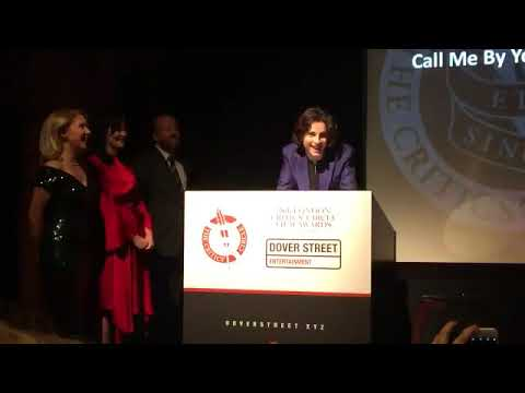 Timothée Chalamet accepts award for Actor of the Year at London critics