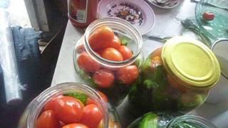 Маринование огурцов+помидоры ЧЕРИ