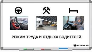 5.Режим труда и отдыха водителей. Рабочая неделя водителя. Недельное/двухнедельное время вождения.