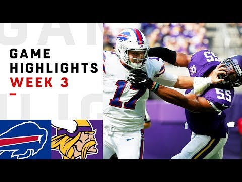 Bills vs. Vikings Week 3 Highlights | NFL 2018