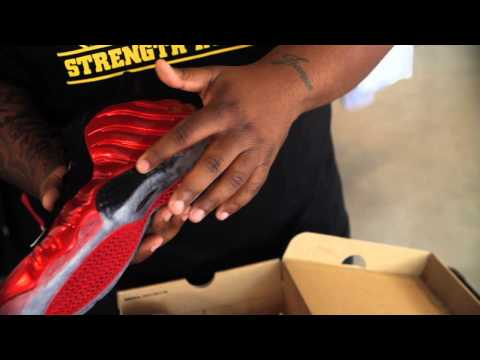 """Nike Air Foamposite One """"Metallic Red""""Unboxing"""