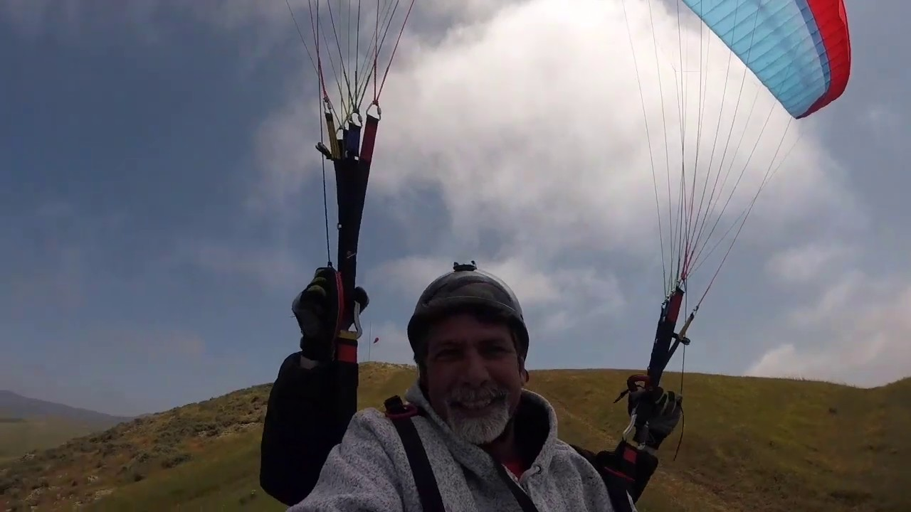 James First Tandem Paragliding Flight Cayucos California