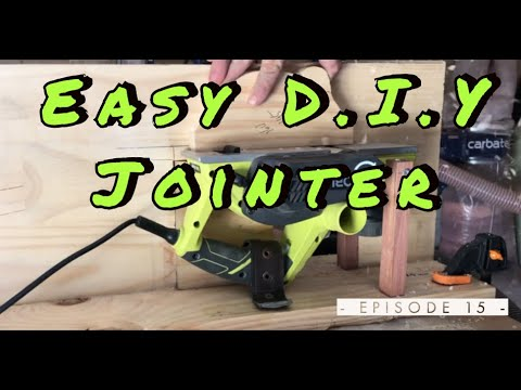 I Made A DIY Jointer With My Electric Planer