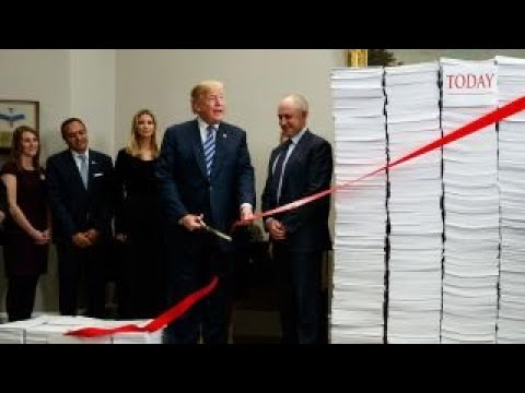 Trump cuts red tape, deregulation to boost US economy