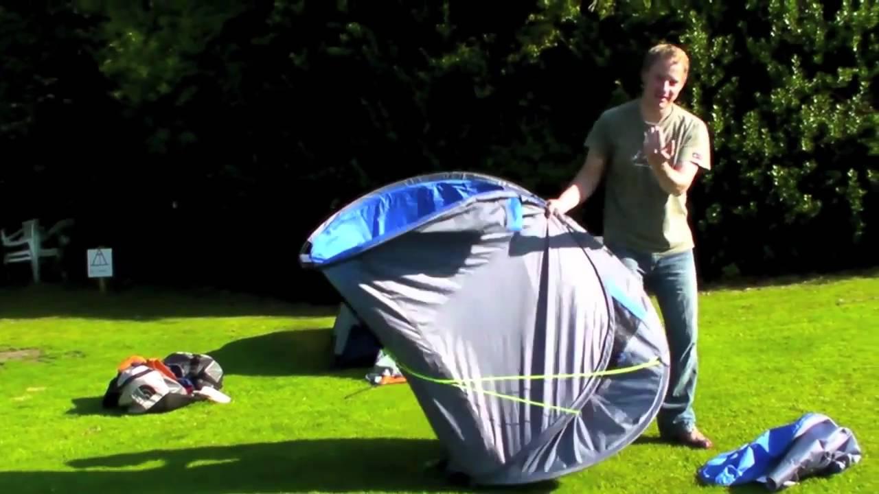 & Gelert pop up tent - YouTube