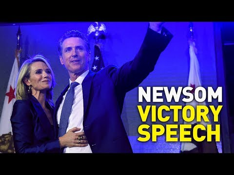 Gavin Newsom Delivers Victory Speech In California Governor's Race [2018 Midterm Elections]