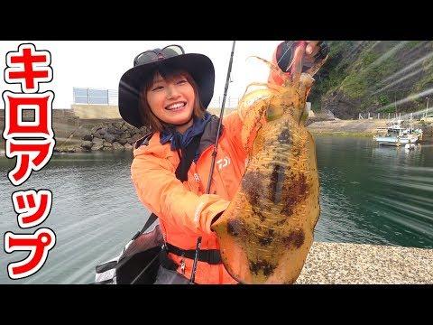 大雨の日にイカ釣りに行ったらまさかの大物が・・・