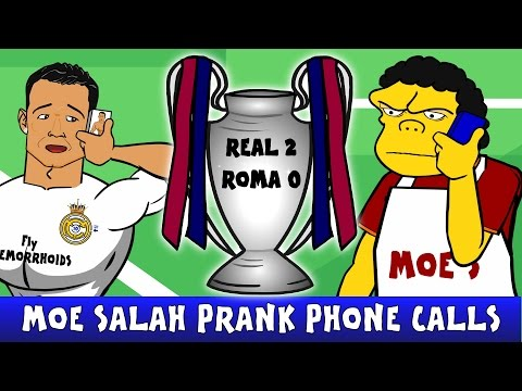 Real Madrid vs AS Roma 2-0 (UEFA Champions League Parody Highlights 15/16 Ronaldo Cartoon)