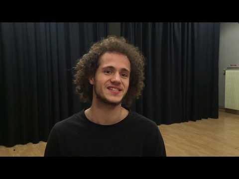 Mathéo, élève comédien au Studio Muller