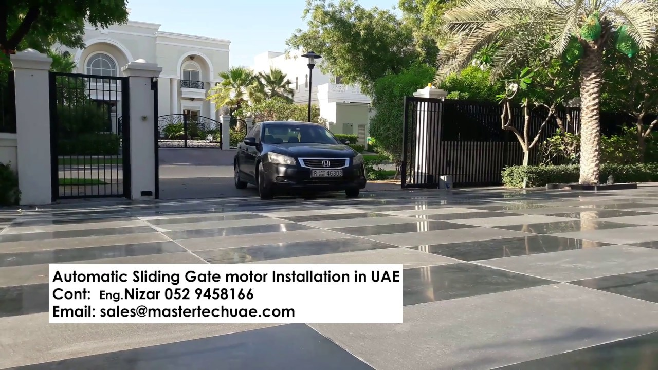 Gate Automation - Sliding Gate Motor in Emirates Hills Dubai, UAE [ BFT-  Made in Italy ]