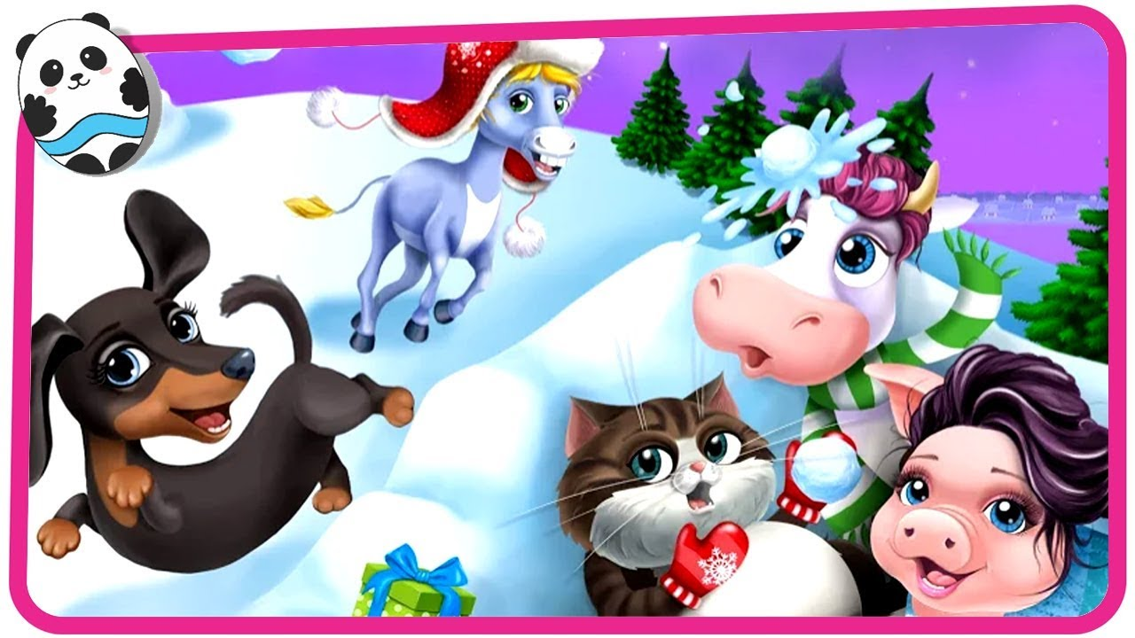 Farm Animals Christmas – Cute Winter Pets – Play Fun Animal Makeover & Dress Up Games for Kids