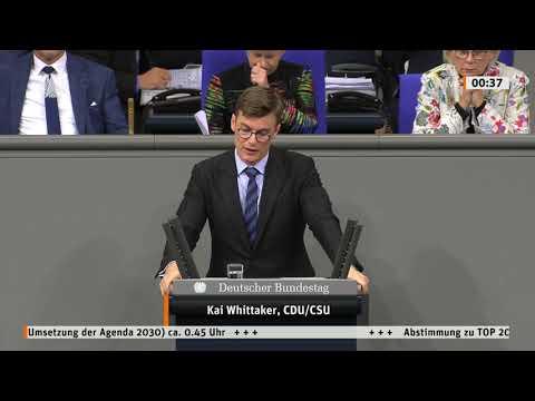 Rede Kai Whittaker MdB | Stand der Umsetzung der Agenda 2030