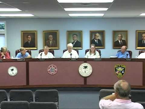 8/23/11, City Council Meeting, Isle of Palms, South Carolina