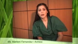 Cancer Survivor Maritoni Fernandez with her B-Leaf Organic Barley Testimony