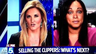 Deanne Arthur talks to Fox 5 News regarding the sale of the Los Angeles Clippers