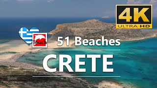 51 Best Beaches of West CRETE, Greece ► 30 minutes 4K