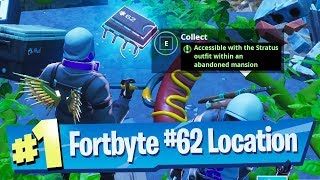 Fortnite Fortbyte #62 Location - Accessible with the Stratus outfit within an Abandoned Mansion