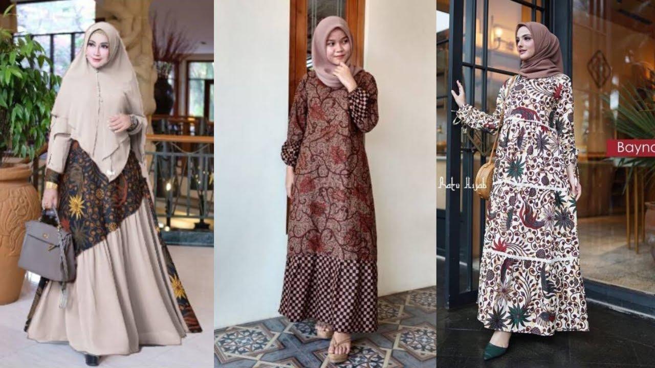 12+ Trend Model Baju Gamis Batik Terbaru untuk Wanita Berhijab yang Modern  dan Stylis
