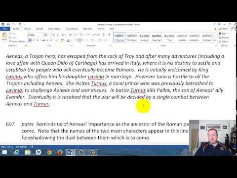 Latin GCSE 2: Aeneid 12 Video 1