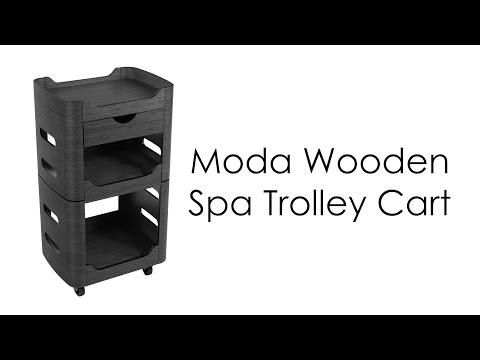 Moda Wooden Spa Trolley Cart