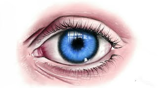Digital speed painting realistic eye Autodesk Sketchbook pro android galaxy note s pen