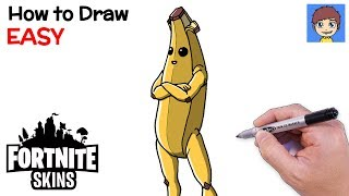 How to Draw Fortnite Banana Step by Step - Fortnite Peely Skin Drawing