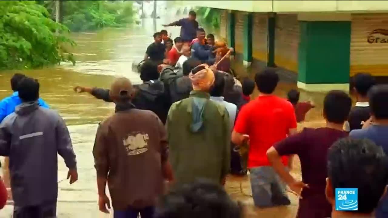 فرانس 24:Kerala floods: more than 150.000 people left homeless