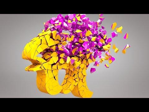 Cinema 4D R18 Voronoi Fracture using Gravity Effect