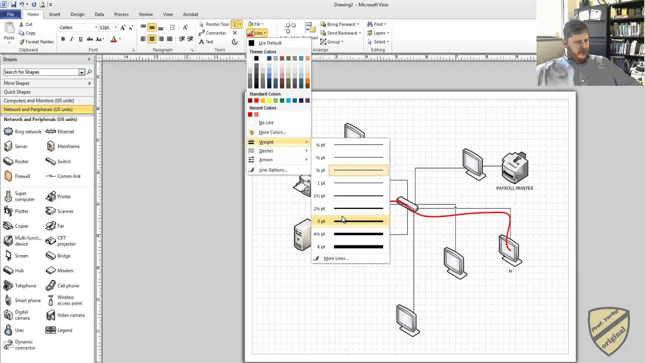 Drawing Lines In Visio : Freeform drawing lines in visio youtube