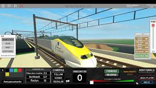 Roblox Terminal Railways Class 373 Eurostar Northwell to Eldershire South *ALMOST SPIN - ACCIDENT*