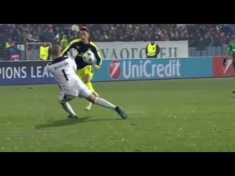 Mesut Ozil AMAZING Goal Ludogorets 2-3 Arsenal  (01/11/2016)