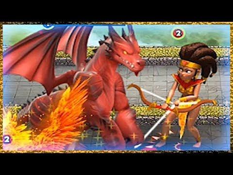 Castle Crush Giant Dragon Vs Giant Archer Queen! Storm Mode