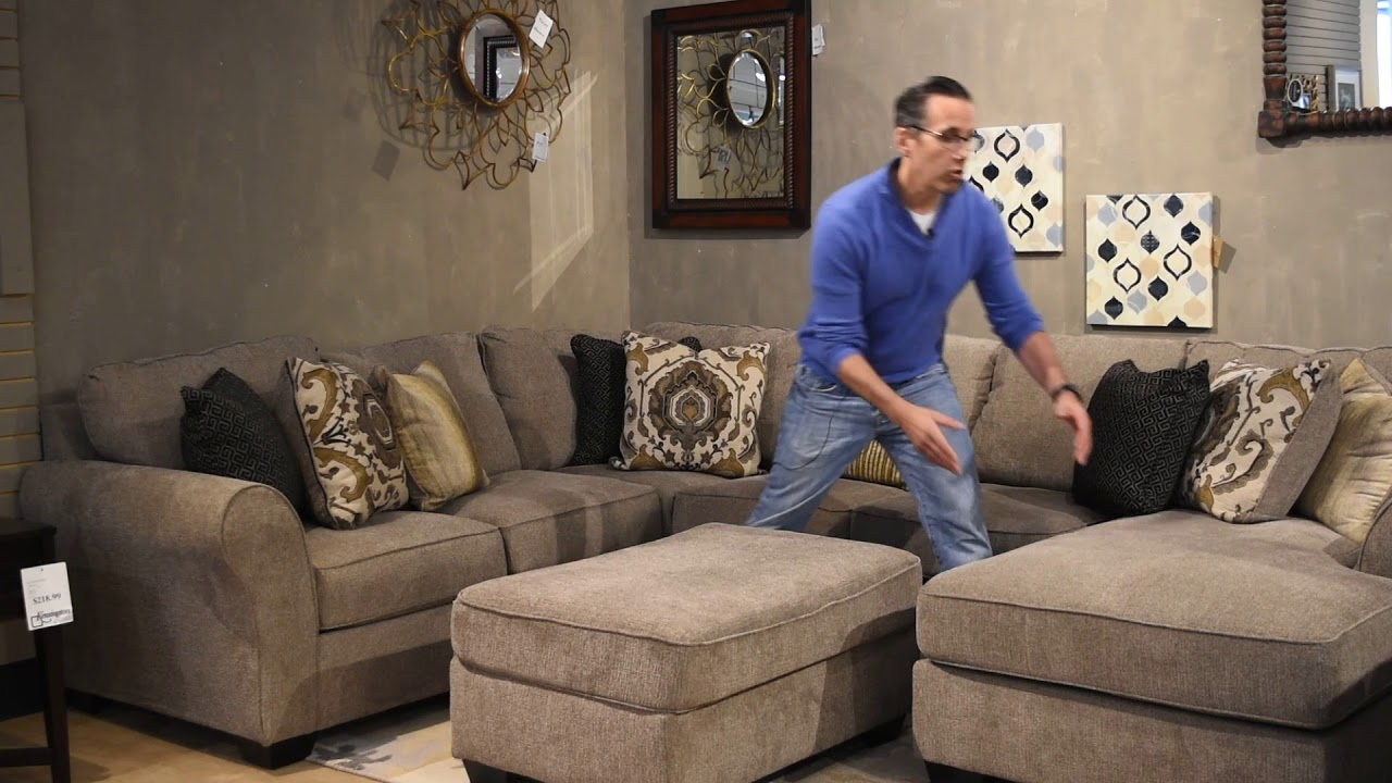 Today S Deal Pantomine Driftwood Extended Sectional Youtube
