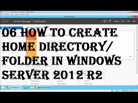 MCSA (70-410): 06 how to create home directory/Folder in windows server 2012 R2