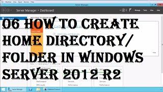 MCSA (70-410): 06 wie erstelle home-Verzeichnis/ - Ordner in windows server 2012 R2