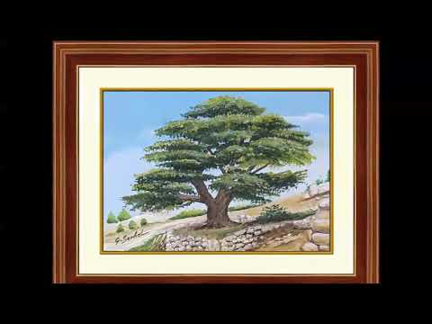 Artist painter Georges Serhal, available paintings collection Lebanon-themed miniature artworks
