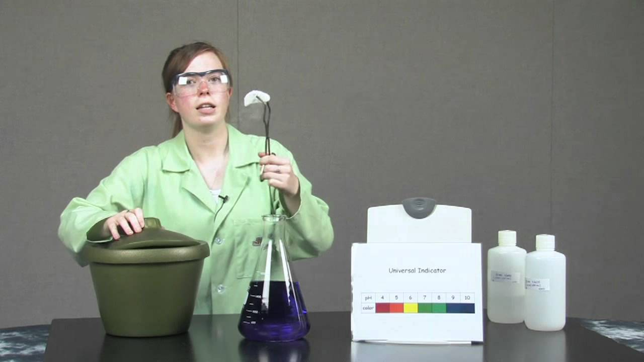 Dry Ice in Universal Indicator | Chemistry Demonstrations