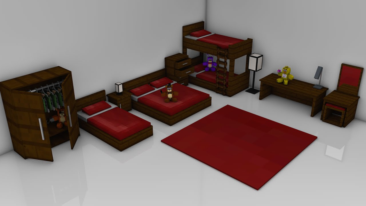 Minecraft Bedroom Pack Rig Cinema 4d Youtube