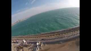 Dubai Palm Jumeirah Crescent Air View