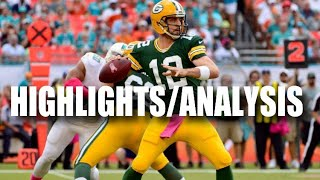 Packers vs. Dolphins HIGHLIGHTS AND ANALYSIS (Week 10)