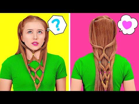 COOLE HAAR-HACKS, FÜR JEDE SIATUATION || Haar-Hacks und Tipps, die jedes Mädchen kennen sollte
