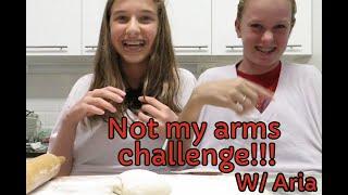 Making pizza wAria  Not My Hands Challenge!!