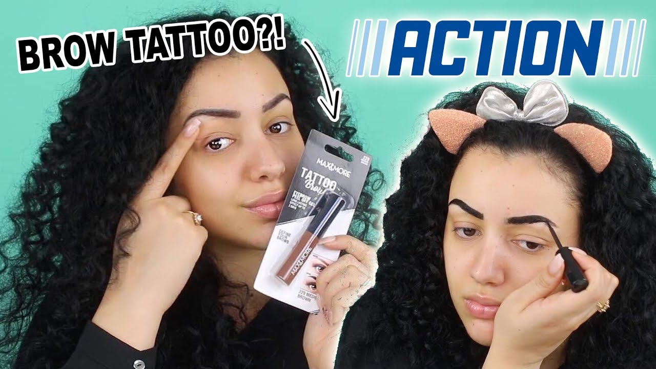 ACTION BROW TATTOO TESTEN !! - YouTube