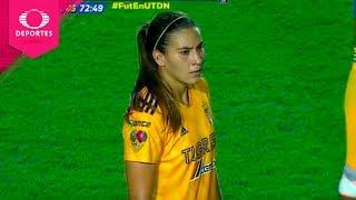 Gol de Nayeli Rangel | Tigres 2 - 2 Monterrey | Liga MX Femenil - J5 | Televisa Deportes