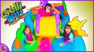 Laurinha and monkey Johny Johny Yes Papa Nursery Rhymes Song, Learn Colors With, Funny video for kid