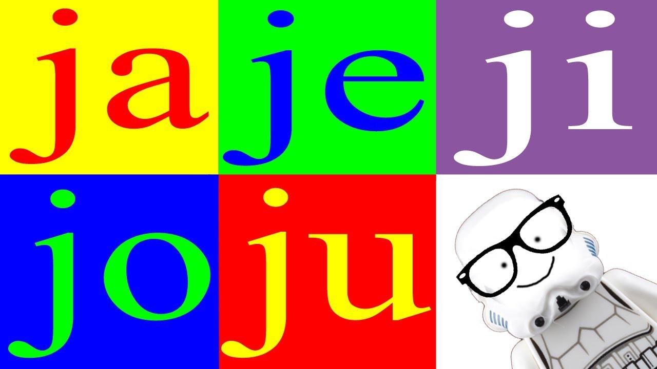 Aprender A Leer 9 Sílabas Ja Je Ji Jo Ju La Letra J Canal Block 6